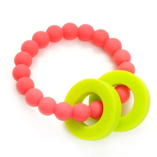 Baby Silicone Teether Babies Teething Ring Chewbeads