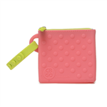100% Silicone Pouch.  Fits up to 2 pacifiers, or keys, credit cards, and more.