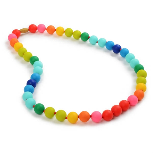 Teething bead necklace rainbow bead necklace christopher necklace larger photo email a friend aloadofball Choice Image