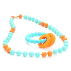 Chewbeads Baby Mulberry Teether and Necklace Gift Set
