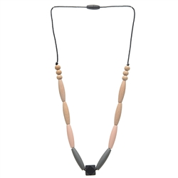 Chewbeads Bedford 100% Silicone & Wood Teething Necklace