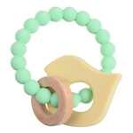 100% Silicone and Wood Brooklyn Teether
