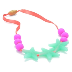 Juniorbeads Broadway Jr. 100% Silicone Glow in the Dark Beaded Necklace