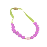 Juniorbeads Spring Heart 100% Silicone Glow in the Dark Beaded Necklace