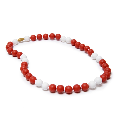 Hearts Silicone Teething Beads Necklace for Mum /& Baby Teether RED
