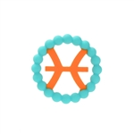 Silicone Zodiac Pisces Teether